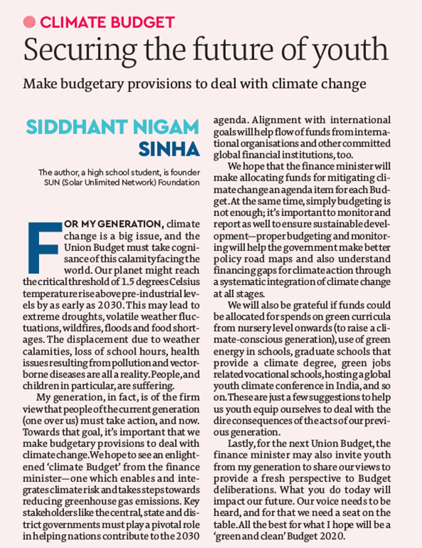 climate budget article
